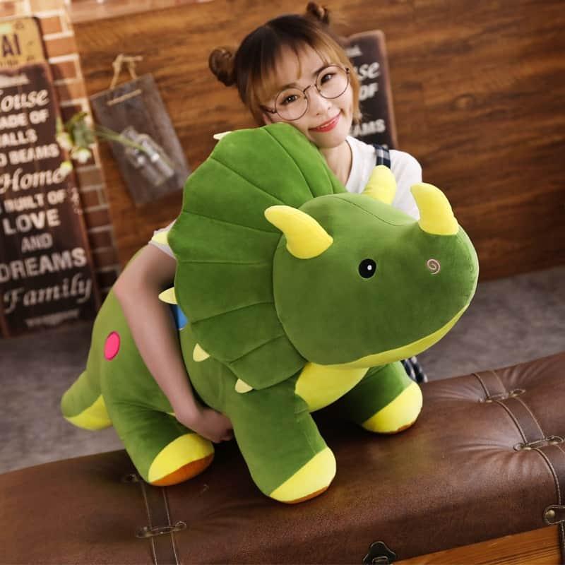 Giant Triceratops Dinosaur Plush