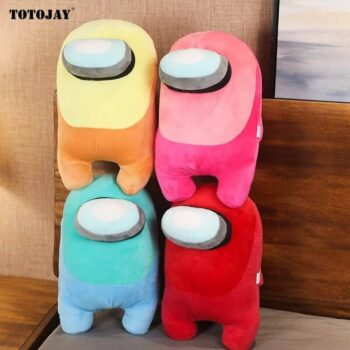 4 different colors of among us stuffed toys