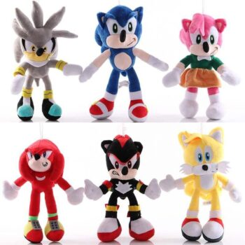 multiple characters of sonic the hedgehog plush