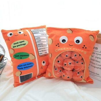 Kawaii Cheese Puff Stuffed Pillow