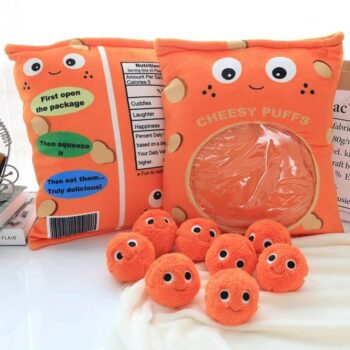 Big Eyed Cheese Puffs Plush