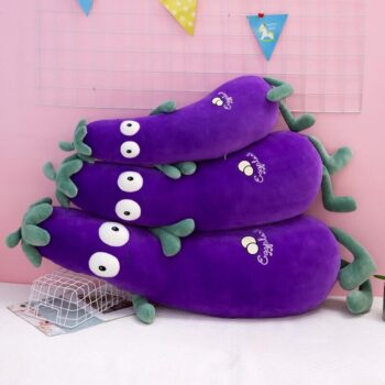 Big Eyed Eggplant Plush 1