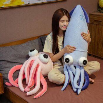 Big Eyed Squid Plush 2