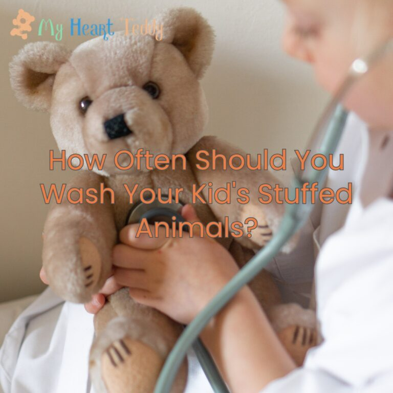How often should you clean your kid's plush toys?