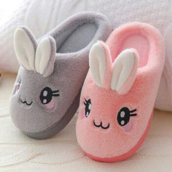 Cute Rabbit Plush Slippers 2