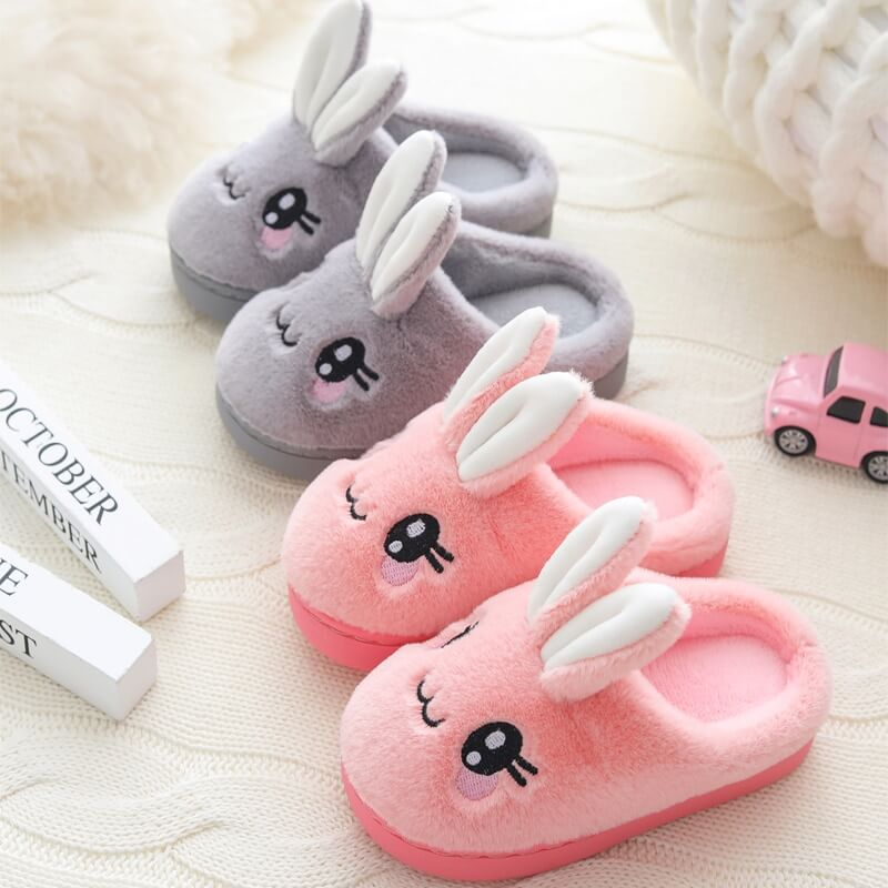 Cute Rabbit Plush Slippers