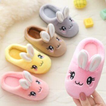Cute Rabbit Plush Slippers 0