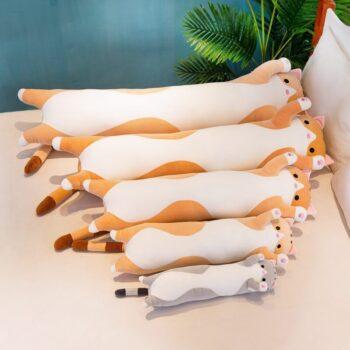 Long Cartoon Cat Plush