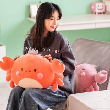 Giant Kawaii Crab Plush Pillow