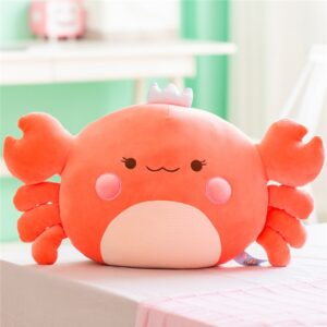 Giant Kawaii Crab Plush Pillow - 58 cm, Orange