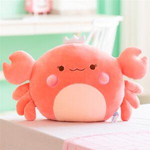 Giant Kawaii Crab Plush Pillow - 58 cm, Pink