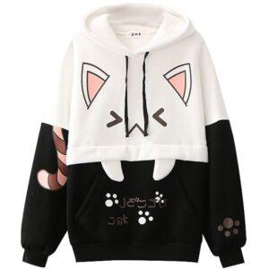 Harajuku Kawaii Cat Women Hoodies