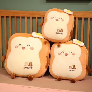 Three Kawaii Japanese Loaf Bread Plush