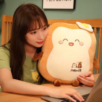 Woman holding a Kawaii Japanese Loaf Bread Plush