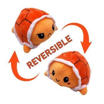 Reversible Turtle Mood Plush - 10 cm - orange