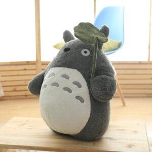 Japanese Animation Giant Totoro Plush holding a leaf