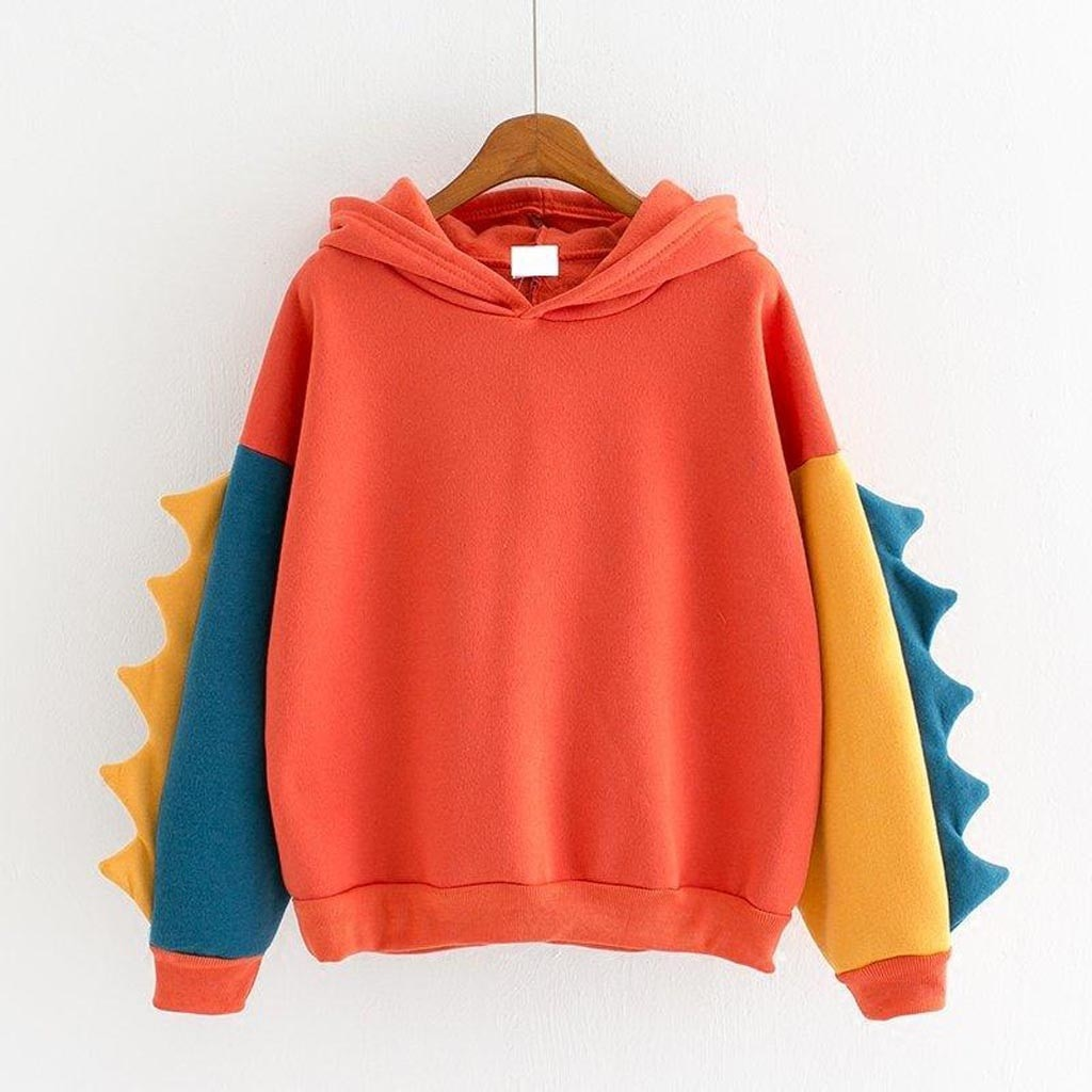 Kawaii Women Dinosaur Print Sweatshirt