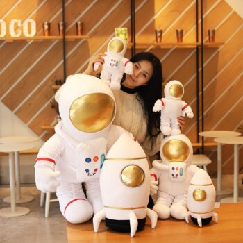Astronaut and Spaceship Plush